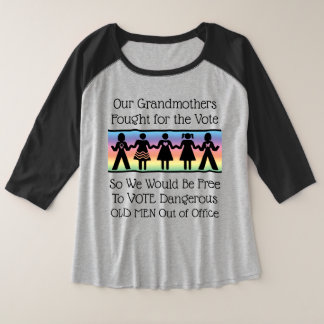 Girls Will Vote Plus Size Raglan T-Shirt