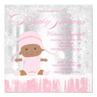 Girls Winter Wonderland Baby Shower Invitation