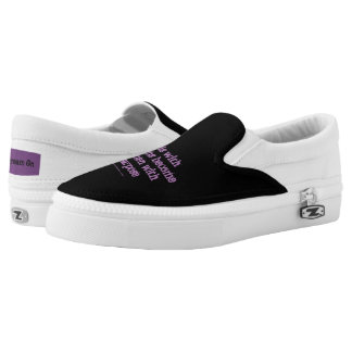 Girls with dreams become women with purpose Slip-On sneakers