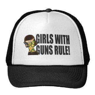 Girls With Guns Rule Trucker Hat