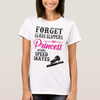 Girls Womans Roller Speed Skates T-Shirt