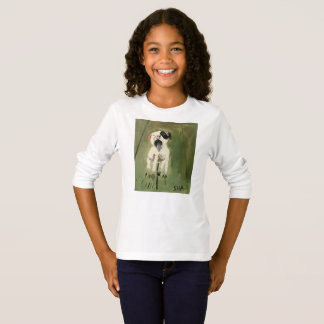 Girls' Yawning Puppy Long Sleeve T-Shirt