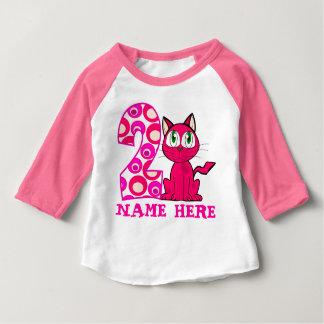 Girly 2nd. Birthday Baby T-Shirt