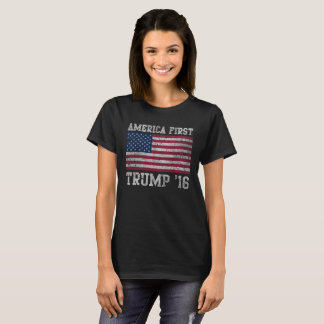 Girly American First Trump 16 T-Shirt