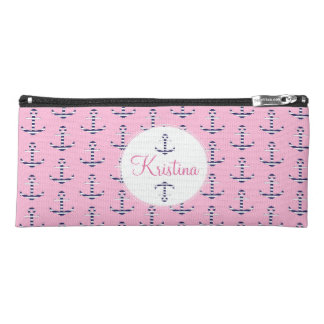 Girly anchor pattern pencil case