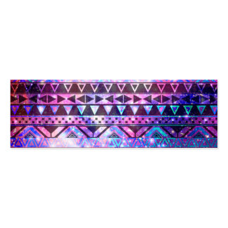 Girly Andes Aztec Pattern Pink Teal Nebula Galaxy Business Cards