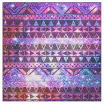 Girly Andes Aztec Pattern Pink Teal Nebula Galaxy Fabric