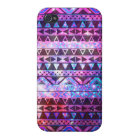Girly Andes Aztec Pattern Pink Teal Nebula Galaxy iPhone 4/4S Case