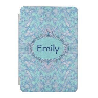 Girly Aqua Blue Tie Dye Your Monogram Name iPad iPad Mini Cover