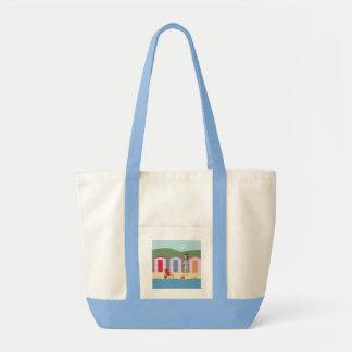 GIRLY BEACH BAG. VACATION BEACH TOTE BAG