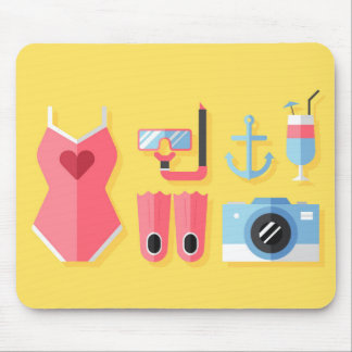 Girly beach stuff mousepad