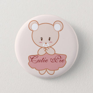 Girly Bear 2 Inch Round Button