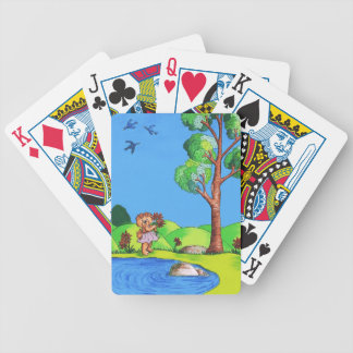 Girly Bear Bicycle Playing Cards