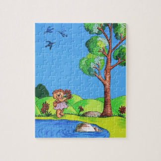 """Girly Bear"" Jigsaw Puzzle for Kids"