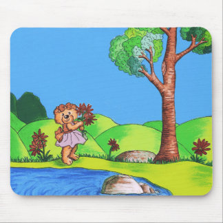 Girly Bear Mouse Pad