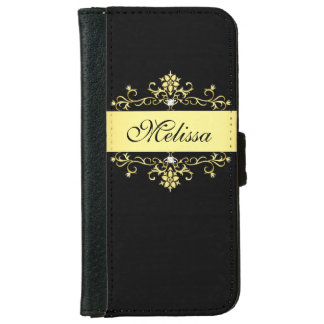 Girly Black and Gold iPhone 6 Wallet Case