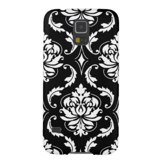Girly Black and White Damask Pattern Galaxy S5 Case