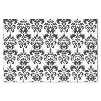 Girly Black and White Vintage Damask Pattern 2 Tissue Paper