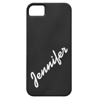 Girly, Black Chalkboard with Name iPhone 5 Case