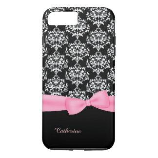 Girly Black & White Damask iPhone 7 Plus case