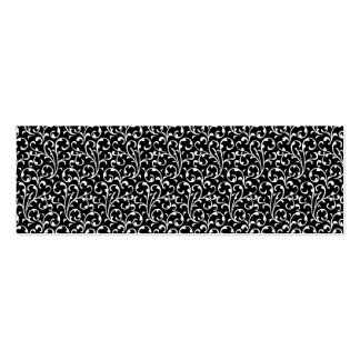Girly Black White Swirls Pattern Business Cards