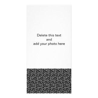Girly Black White Swirls Pattern Picture Card