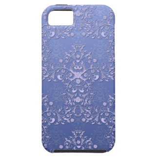 Girly Blue Floral  Damask  iPhone 5 Case