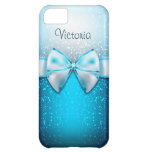 Girly Blue Glitter Holiday iPhone 5C Case
