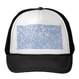 Girly Blue White Abstract Glitter Photo Print Trucker Hat