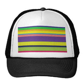 Girly Bright Polka Dot Stripes Trucker Hat