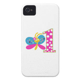Girly Butterfly First Birthday iPhone 4 Case-Mate Cases