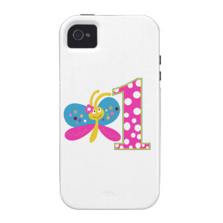 Girly Butterfly First Birthday iPhone 4/4S Case