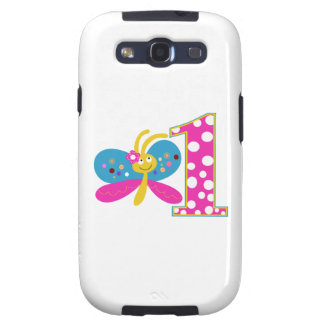 Girly Butterfly First Birthday Galaxy S3 Covers