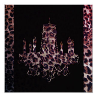 Girly Chandelier Cool Safari Leopard print
