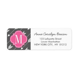 Girly Charcoal & Pink Arrows Custom