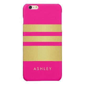Girly Charming Pink Gold Glitter Stripes Pattern