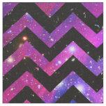 Girly Chevron Pattern Cute Pink Teal Nebula Galaxy Fabric