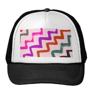 Girly Chevron Zigzag Stripes Pattern Mesh Hats