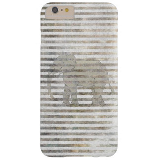 Girly Chic Artsy Elephant Distressed Stripes Barely There iPhone 6 Plus Case