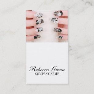 Nail salon manicure business cards profile cards zazzle ca girly chic elegant manicure nails nail salon business card colourmoves