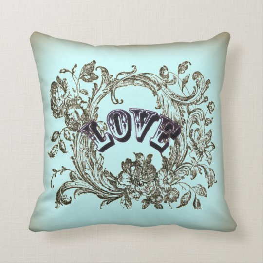 girly chic flourish swirl pastel colours victorian throw pillow