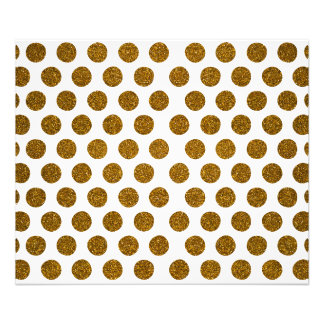 Girly Chic Gold Polka Dots Glitter Photo Print