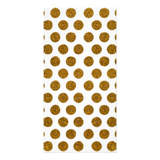 Girly Chic Gold Polka Dots Glitter Photo Print Photo Card Template