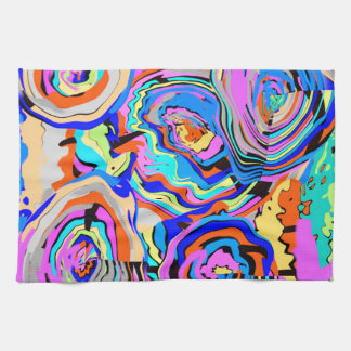 Girly Chic Modern Colorful Art Kitchen Towels