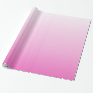 girly chic monograms blush pink ombre magenta wrapping paper