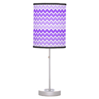 Girly Chic Purple Lavender Lilac Ombre Chevron Table Lamp