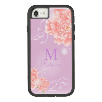 girly chic spring watercolor floral pink peony Case-Mate tough extreme iPhone 8/7 case