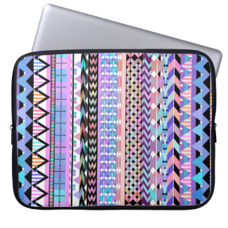 Girly Colorful Aztec Pattern Laptop Sleeve