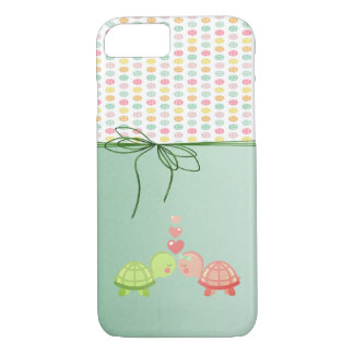 Girly Colorful Buttons,Turtles In Love iPhone 8/7 Case