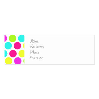 Girly Colorful Polka Dots Pattern for Girls Business Card Templates